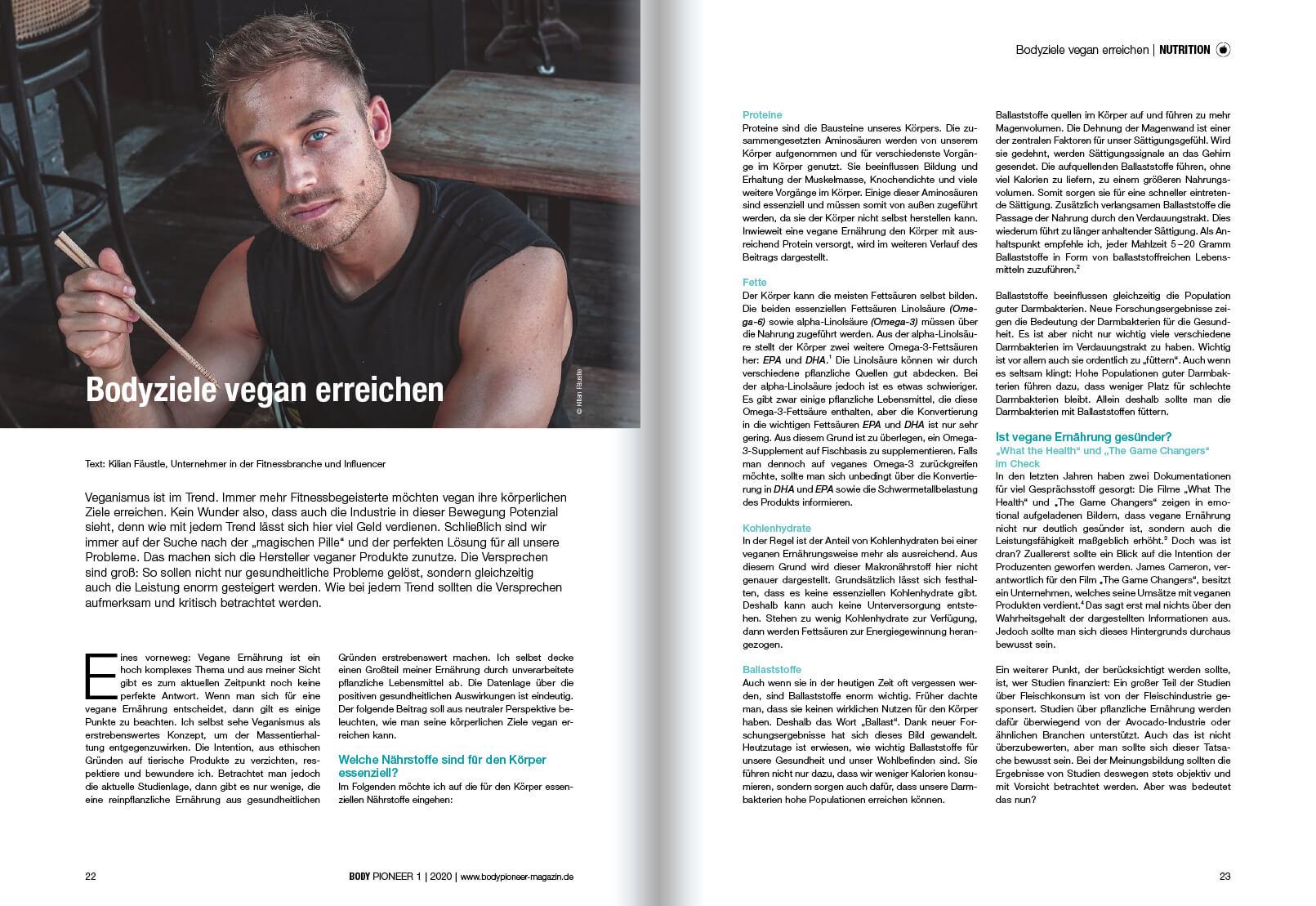 Heftseite Nutrition
